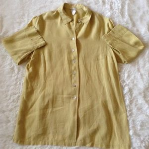 La Redoute linen button-down top for sale